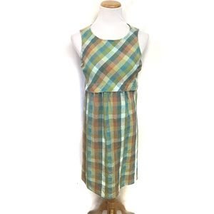 Retro Mod North Style Mid Century Midi Linen Dress